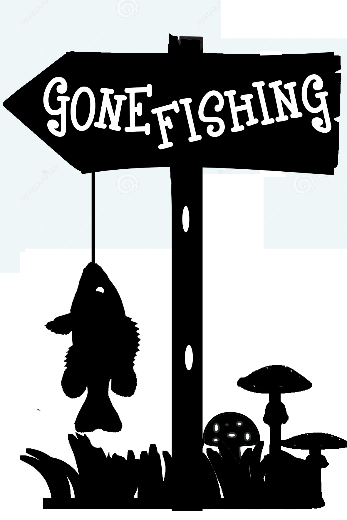 GONE FISHING  100 x 150  min buy 3